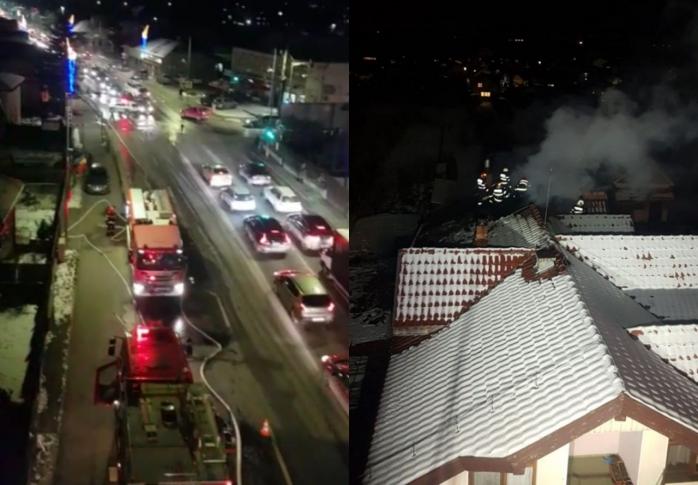 Incendiu la o casă din Florești! Acoperișul a fost cuprins de flăcări. FOTO/VIDEO