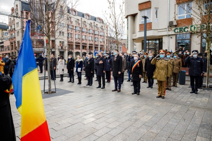 """Ceremonie militară la Cluj, de Mica Unire. Boc: """"Nu vom putea avea Hora Unirii, dar sunt convins că o avem fiecare în suflet"""" - FOTO/ VIDEO"""