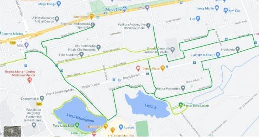 Doi clujeni propun amenajarea unor piste de biciclete Între Lacuri, care să conecteze școli, parcuri și magazine