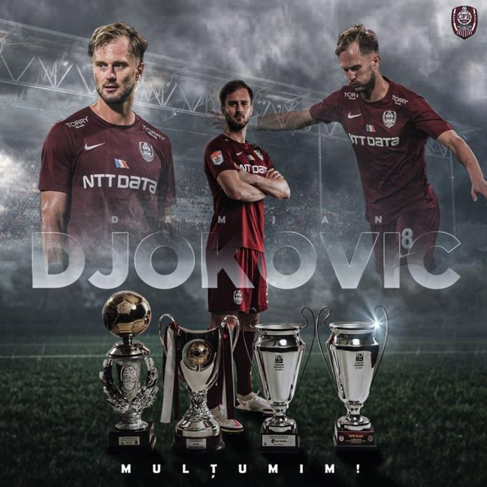 CFR Cluj, reacție de echipă mare după plecarea lui Damjan Djokovici