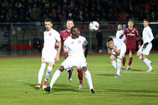 CFR Cluj, victorie dificilă împotriva lui FC Hermannstadt. Echipa lui Iordănescu a avut emoții în prima repriză