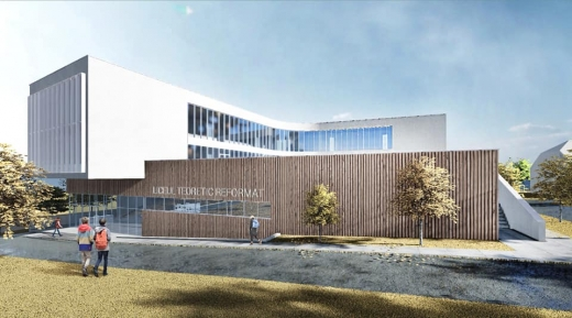 Noul liceu din Huedin, lăudat de arhitectul județului.