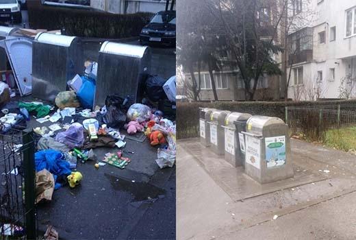Brantner a adunat gunoaiele în timp record pe strada Răsăritului după articolele publicate în presă
