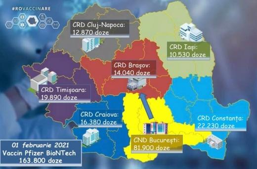 Județul Cluj, printre zonele cu cele mai puține doze de vaccin la următoarea împărțire