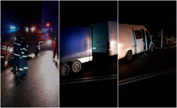 ACCIDENT GRAV în Cluj, între o autoutilitară și un TIR! Un bărbat a murit în urma impactului. VIDEO