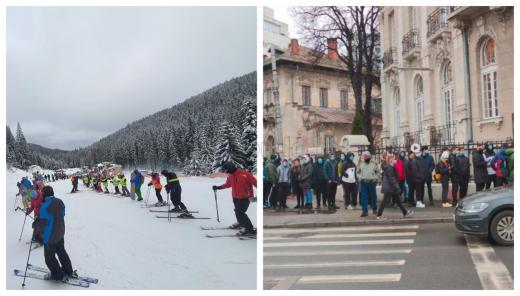 POZA ZILEI. Cum se stă la coadă în Cluj și cum se stă în București