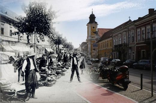 Clujul istoric și cel modern, suprapus în fotografii ce trezesc nostalgie. Sursă foto: amintiridincluj