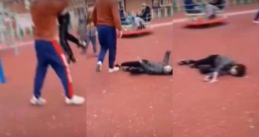 Un bărbat A TRÂNTIT la pământ un copil care se certa cu fiul său. Polițiștii i-au făcut dosar penal