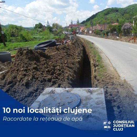 10 localități clujene vor avea rețele publice de apă