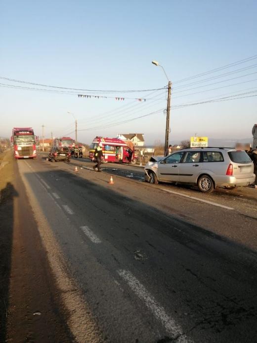 ACCIDENT grav între Dej și Beclean! Traficul a fost deviat