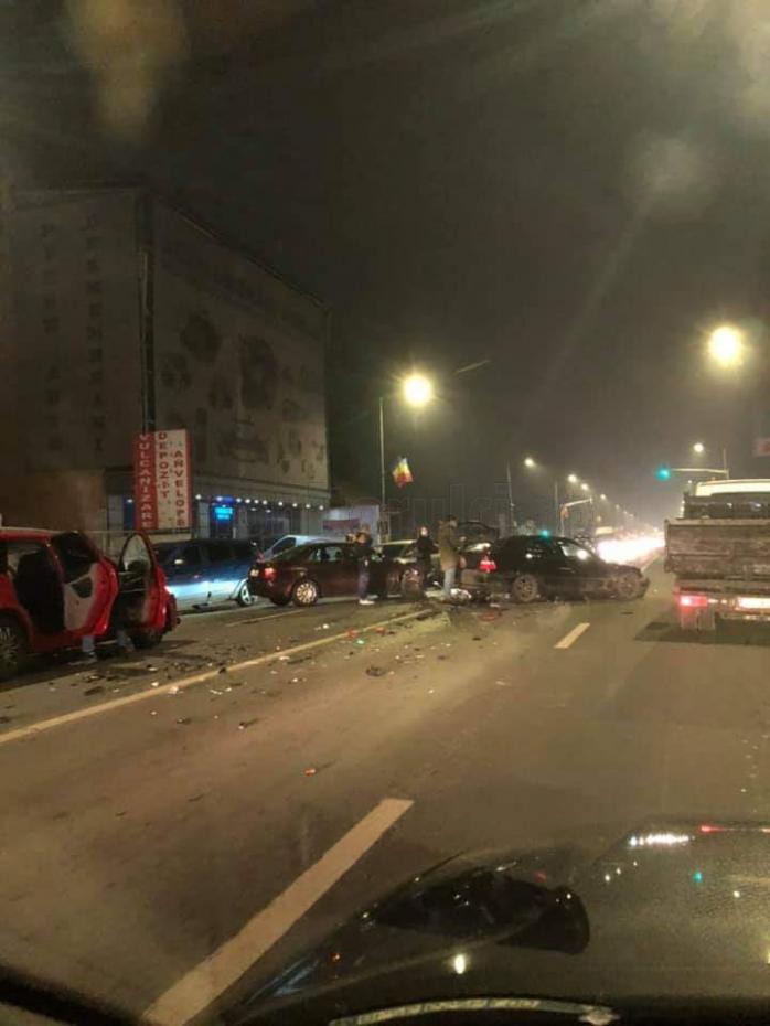 ACCIDENT cu trei mașini implicate pe Calea Florești