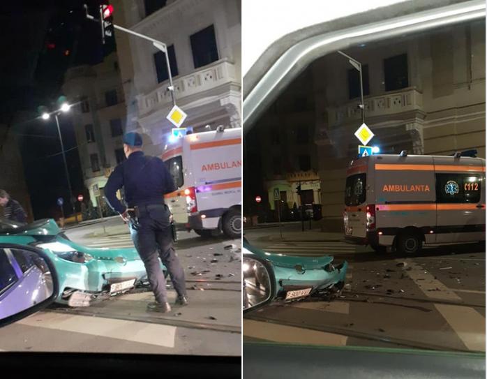 Ambulanță lovită pe strada Horea