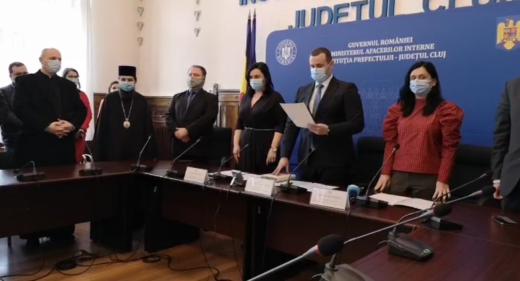 Szilard Tasnadi, Irina Munteanu și Camelia Sălcudean, investiți în funcțiile de prefect și subprefect