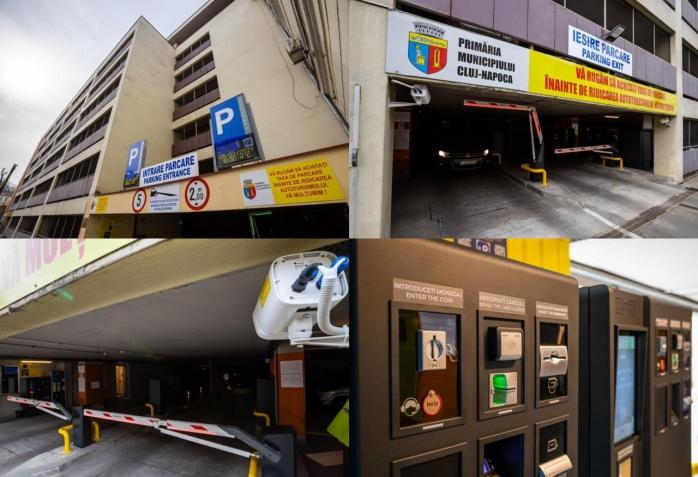 Sistem nou automat de acces în parking Moților.