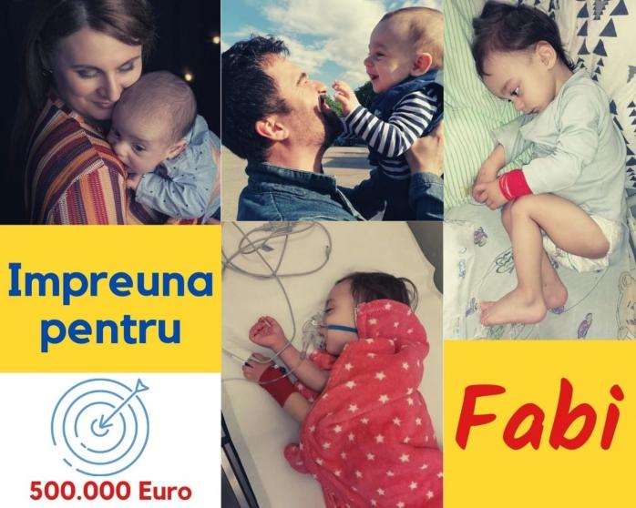 Un copil din Cluj are nevoie de ajutor! Fabi suferă de o formă rară de cancer și are nevoie de tratament de specialitate. Sursă foto: Facebook
