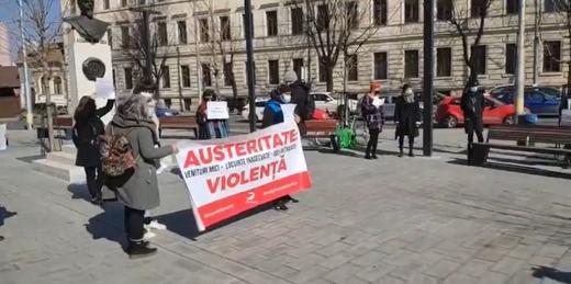 Femeile își fac vocile auzite. Proteste la Prefectura Cluj și la Guvern, de 8 Martie