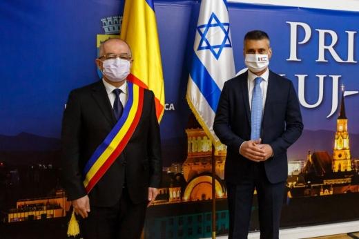 Ambasadorul Israelului în România, vizită la Cluj-Napoca