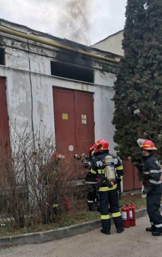 Incendiu la Spitalul Municipal din Dej! A cedat instalația electrică