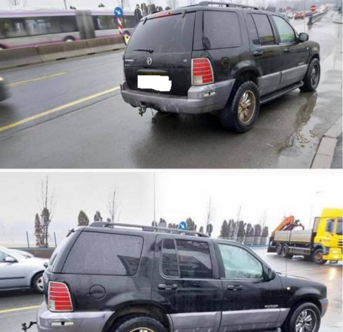 Mașină închisă cu patru câini, abandonată de sâmbătă noaptea în Cluj