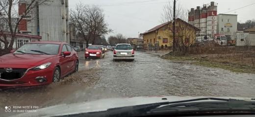 Inundație pe Calea Someșeni.