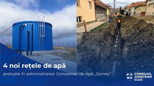 Patru localități clujene vor fi racordate la rețeaua publică de apă.