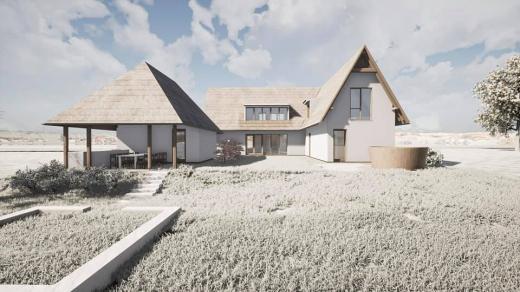 """FOTO. Casă din Mărișel, dată exemplu de arhitectul județului. Salanță: """"Se poate și arhitectură rurală de calitate!"""""""