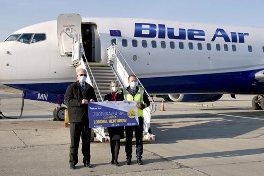 A fost inaugurat zborul Cluj-Londra Heathrow