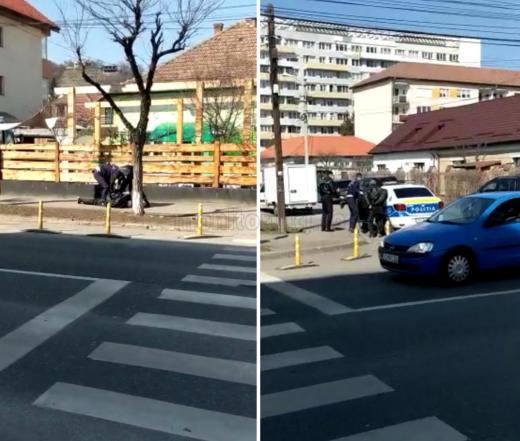 EXCLUSIV. Un bătrân și-a dat jos pantalonii în fața copiilor într-un parc din Cluj. Polițiștii l-au pus la pământ. VIDEO