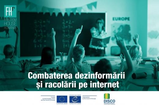 """""""Combaterea dezinformării și racolării pe internet"""". Un proiect implementat de Freedom House România."""