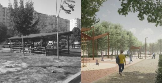 Cum va fi transformat Parcul Primăverii din Cluj-Napoca? Dispare benzinăria și va fi amplasată o machetă 3D.