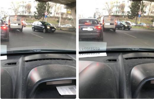 Un șofer a ieșit din sensul giratoriu pe contrasens, sub Podul Calvaria.
