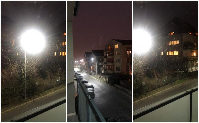 NINGE cu fulgi IMENȘI în Cluj! Vremea o ia razna în luna aprilie. VIDEO