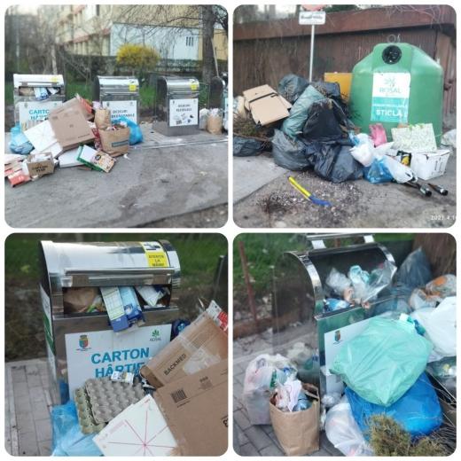 """Colectarea selectivă lasă de dorit! Clujean: """"Degeaba noi selectăm gunoaiele, dacă ei toarnă totul într-un singur camion"""" GALERIE FOTO"""
