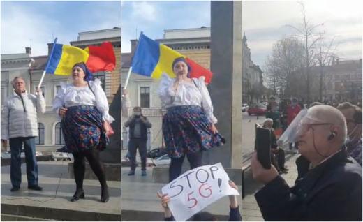 """PROTEST anti-restricții la Cluj-Napoca! Diana Șoșoacă: """"Toți vor avea parte de plângeri PENALE"""". VIDEO/FOTO"""