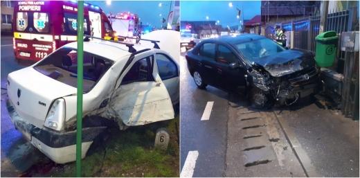 FOTO. Accident DUR pe Avram Iancu, Florești! Un bătrân de 70 ani, transportat urgent la spital