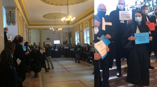 Protest la Curtea de Apel Cluj! Avocații trag un semnal de alarmă