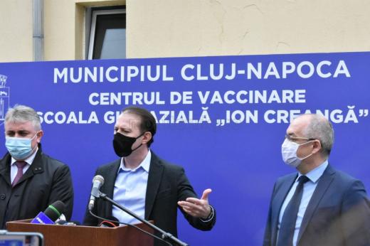 """Clujul are 30% din populație imunizată. Cîțu: """"Veți fi printre primele orașe care vor deschide economia"""""""