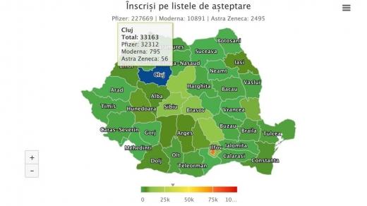 Cluj, locul 1 la interesul în vaccinare