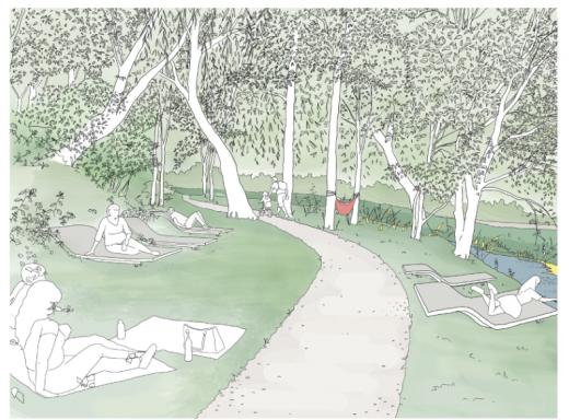 """Primul parc pe Canalul Morii, loc de """"vis"""" pentru clujeni. Zona va fi schimbată radical. FOTO"""