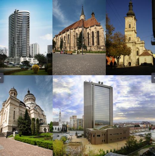 Cele mai înalte clădiri din municipiul Cluj-Napoca