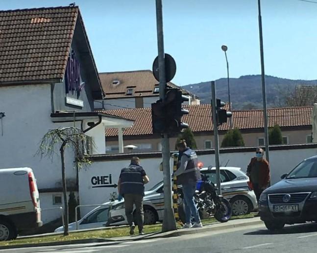 ACCIDENT în Mănăștur! Un motociclist a ajuns la SPITAL