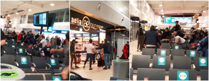 VIDEO. Bătaie ca-n FILME pe Aeroportul din Londra între mai mulți romi. 17 persoane au fost ARESTATE