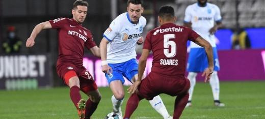 Universitatea Craiova - CFR Cluj 1-3. Campioana trece cu brio peste un examen dificil