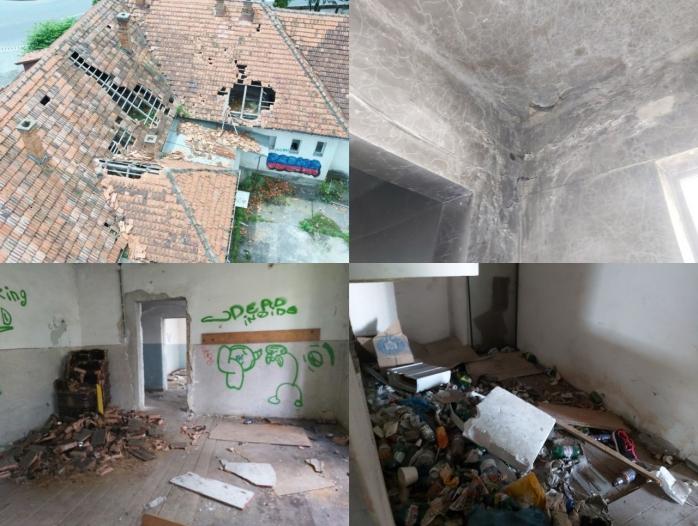 FOTO. Fosta școală de pe Calea Baciului, o ruină! Se lucrează la proiectarea unui azil de bătrâni