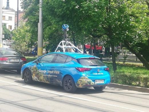 FOTO. Mașina Google Street View se plimbă și fotografiază străzile Clujului. Se actualizează Google Maps. Sursă foto: Paul Ghergheci