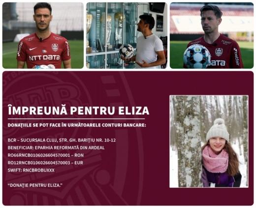 """CFR Cluj și Bob Rădulescu se alătură campaniei umanitare """"Împreună pentru Eliza"""". Află cum poți ajuta și tu!"""