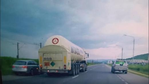 VIDEO. Depășire Kamikaze pe drumul dintre Dej și Cluj