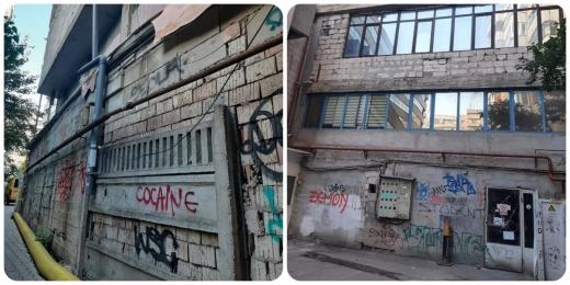"""FOTO. Clădire din Piața Mărăști, lăsată de izbeliște! Clujean: """"Geamurile sunt jegoase. Nu îl apucă rușinea pe administrator?"""""""