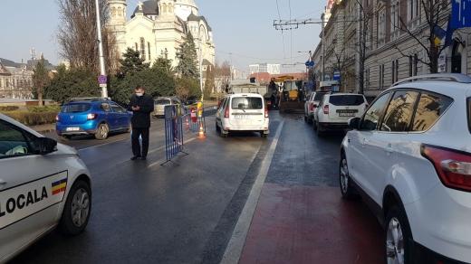 ATENȚIE șoferi! Circulația rutieră va fi BLOCATĂ sâmbătă în Piața Avram Iancu