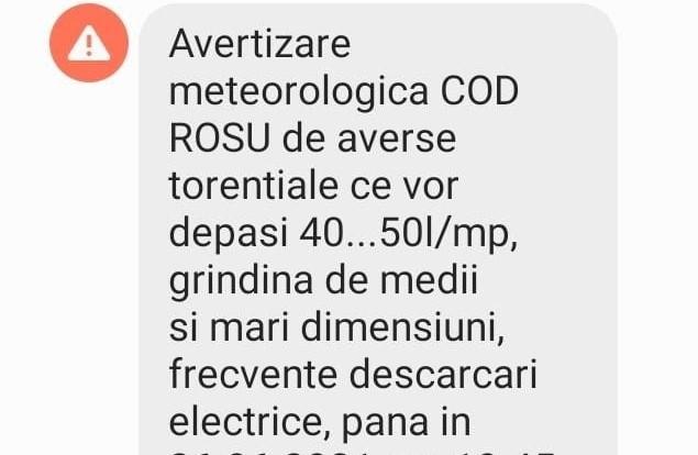 Avertizare RO-ALERT: Cod ROȘU de ploi abundente și vijelii în Cluj!